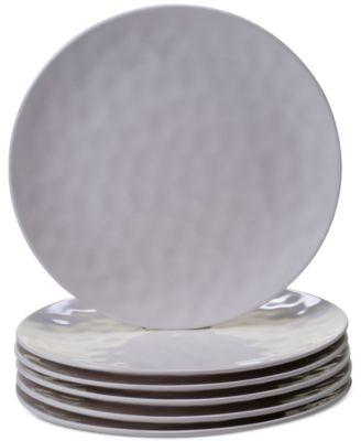 6-Pc. Cream Melamine Dinner Plate Set