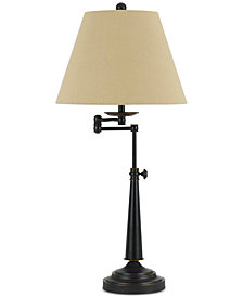 Cal Lighting Madison Adjustable Metal Swing Arm Table Lamp