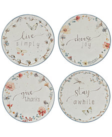 Certified International Country Weekend Canapé Plates, Set of 4
