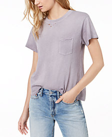 Free People Cotton Ripped T-Shirt