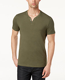 Alfani Men's Split-Neck Cotton T-Shirt, Created for Macy's