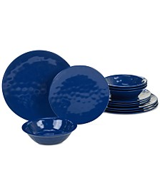 Certified International Cobalt Blue 12-Pc. Dinnerware Set, Service for 4