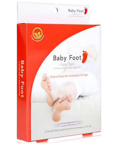 BabyFoot Baby Foot Deep Skin Exfoliation Foot Peel, 2.4-oz., from PUREBEAUTY Salon & Spa