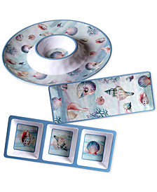 Certified International Ocean Dream Melamine 3-Pc. Hostess Set