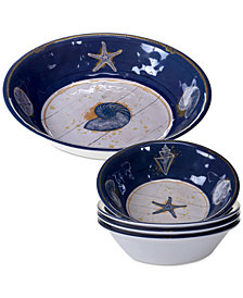 Certified International Calm Seas 5-Pc. Salad-Serving Set