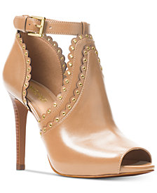 MICHAEL Michael Kors Jessie Open-Toe Booties