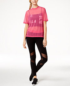 Fila Layered Mesh Top & Leggings