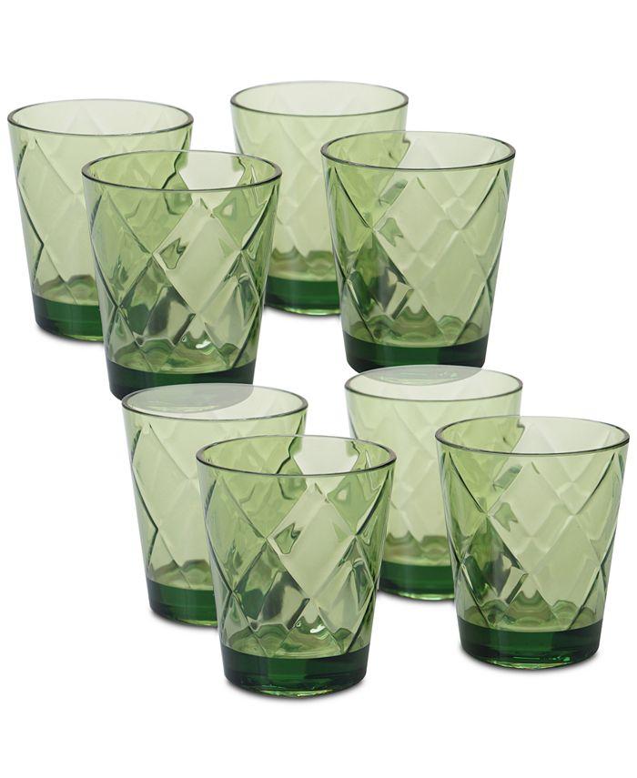 Certified International - Green Diamond Acrylic 8-Pc. Double Old Fashioned Glass Set
