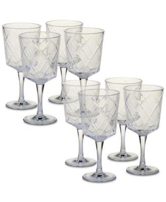 Clear Diamond Acrylic 8-Pc. All-Purpose Goblet Set