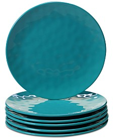Certified International 6-Pc. Teal Melamine Salad Plate Set