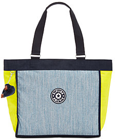 Kipling Shopper Large Denim Tote