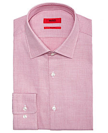 Hugo Boss Men's Slim-Fit Birdseye Dress Shirt