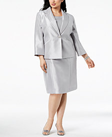 Le Suit Plus Size One-Button Dress Suit