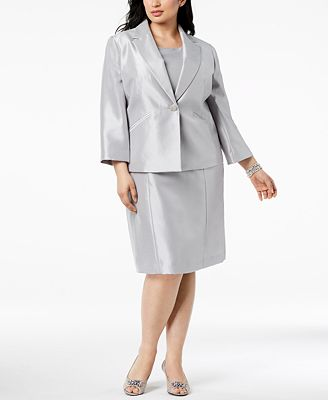 Le Suit Plus Size One Button Dress Suit Wear To Work Women Macy S