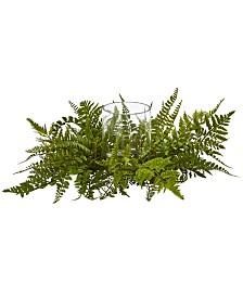 Nearly Natural Mixed Fern Artificial Arrangement Candelabrum