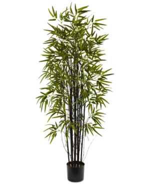 Nearly Natural 5 Artificial Black Bamboo Tree