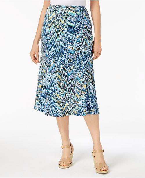 a3c81ba9de NY Collection Petite Printed Seamed Midi Skirt - Skirts - Petites ...