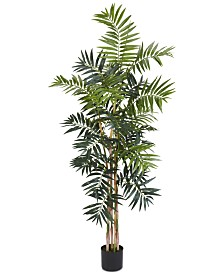 Nearly Natural 5' Artificial Bamboo Palm Silk Tree