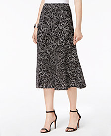 NY Collection Petite Seamed Midi Skirt