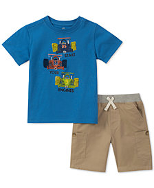 Kids Headquarters Little Boys Set, 2-Pc. Graphic-Print T-Shirt & Shorts