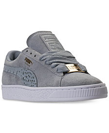 Puma Big Boys' Suede Classic B-Boy Casual Sneakers from Finish Line