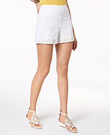Thalia Sodi Embroidered Shorts, Created for Macy's