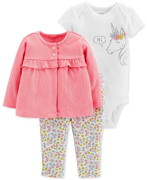 ... Carter s Baby Girls 3-Pc. Cardigan 270364153