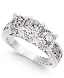 Diamond Ring in 14k White Gold (3 ct. t.w.)