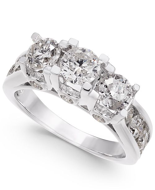 Macy's Diamond Ring in 14k White Gold (3 ct. t.w.)