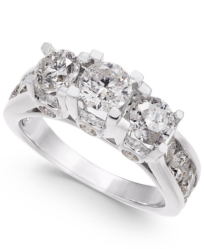 Macy's - Diamond Ring in 14k White Gold (3 ct. t.w.)