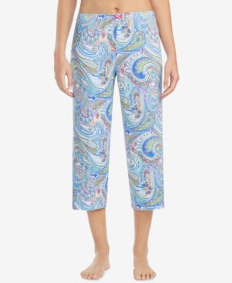 Printed Cropped Pajama Pants