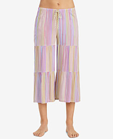 Layla Striped Cropped Pajama Pants