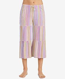 Layla Striped Cropped Pajama Pants