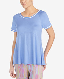 Layla Contrast-Trim Pajama Top