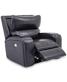 Brant Leather Power Recliner With Power Headrest And USB Power Outlet