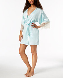 Flora by Flora Nikrooz Parker Lace-Sleeve Kimono Robe