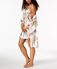 Thalia Sodi Rose-Print Wrap & Chemise, Created for Macy's