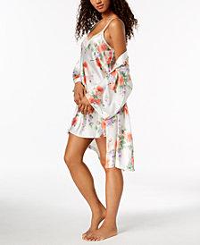Thalia Sodi Rose-Print Wrap & Chemise, Created for Macy's