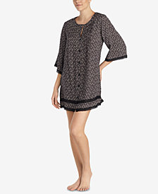 Betsey Johnson Lace-Trim Printed Sleepshirt