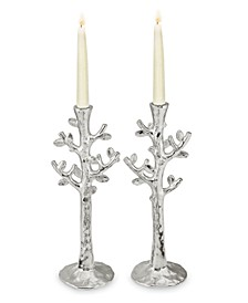 Set of 2 Tree of Life Candlestick Holders