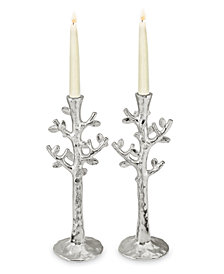 Michael Aram Set of 2 Tree of Life Candlestick Holders