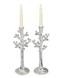 Michael Aram Set of 2 Tree of Life Candlestick Holders