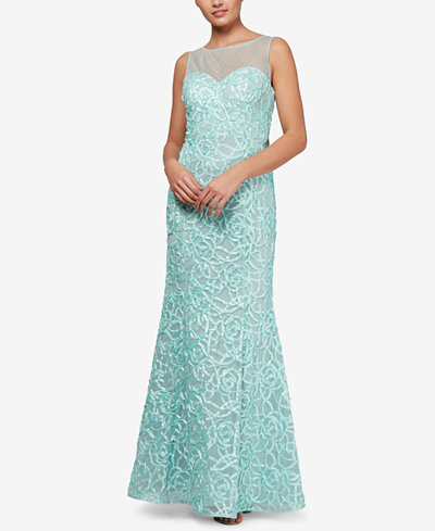 SL Fashions Soutache Mermaid Gown