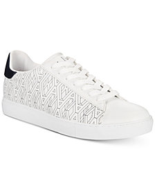 A|X Armani Exchange Men's Sneakers with All-Over Imprint AX Pattern