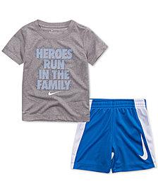 Nike Toddler Boys 2-Pc. Heroes-Print T-Shirt & Shorts Set