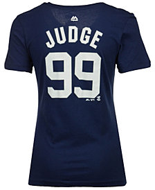 Majestic Women's Aaron Judge New York Yankees Crew Player T-Shirt