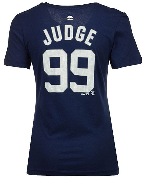 Majestic Women s Aaron Judge New York Yankees Crew Player T-Shirt ... f257d74daff