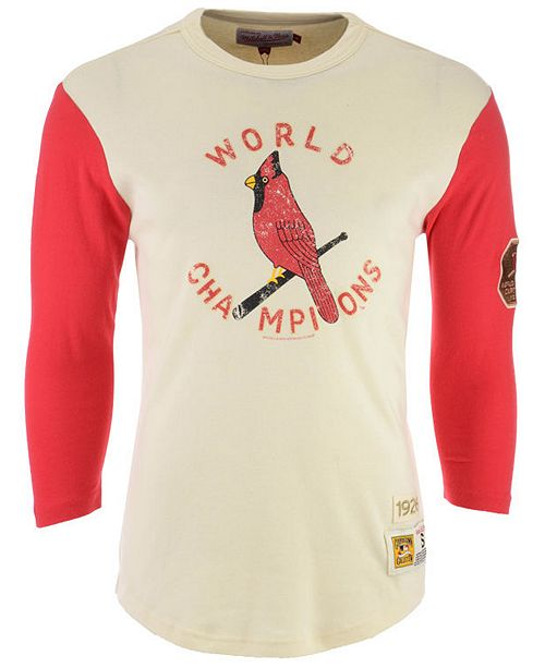 cheaper 74dff 2dad7 Mitchell & Ness Men's St. Louis Cardinals Wild Pitch Raglan ...