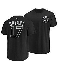 Majestic Men's Kris Bryant Chicago Cubs Pitch Black Player T-Shirt