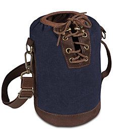 Picnic Time Insulated Navy & Brown Growler Tote
